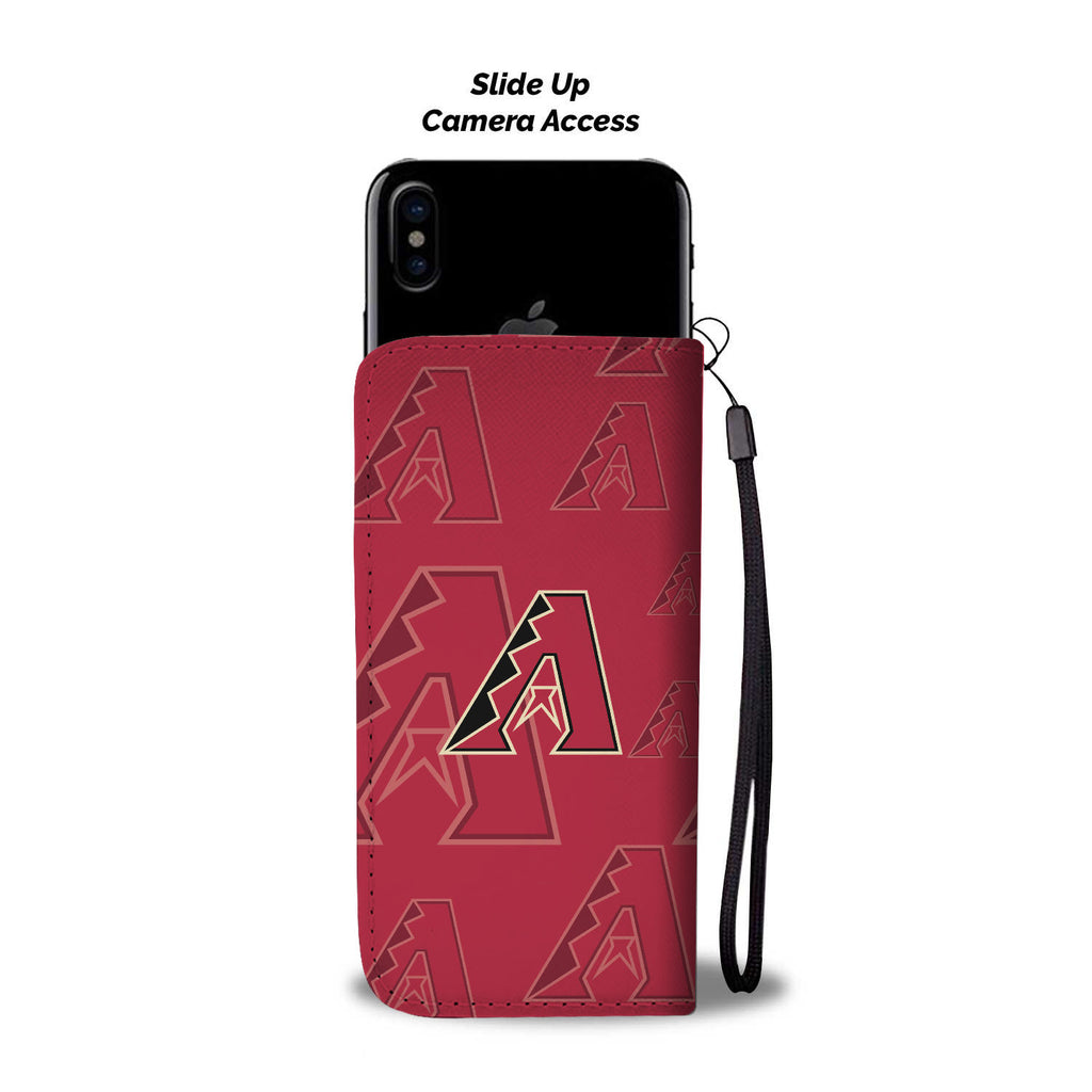 Arizona Diamondbacks Logo Background Wallet Phone Cases