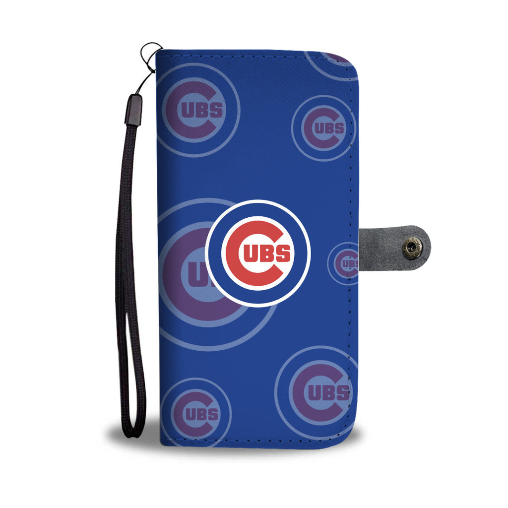 Chicago Cubs Logo Background Wallet Phone Cases