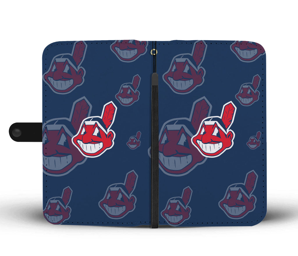 Cleveland Indians Logo Background Wallet Phone Cases