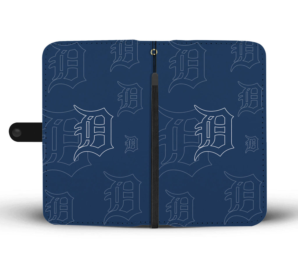 Detroit Tigers Logo Background Wallet Phone Cases