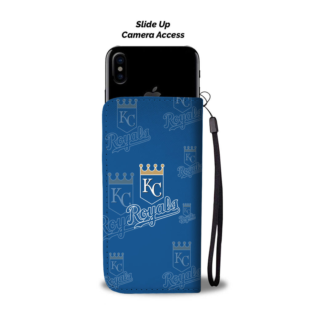 Kansas City Royals Logo Background Wallet Phone Cases