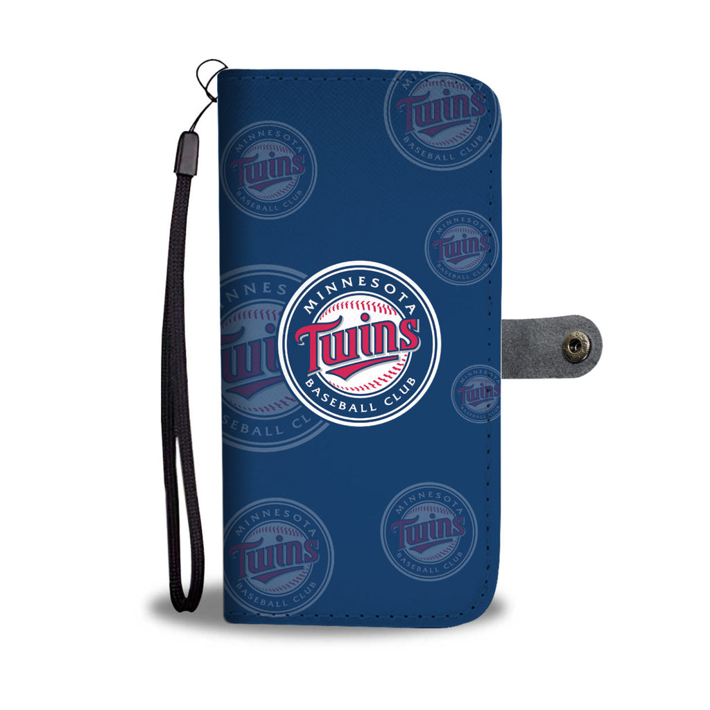 Minnesota Twins Logo Background Wallet Phone Cases