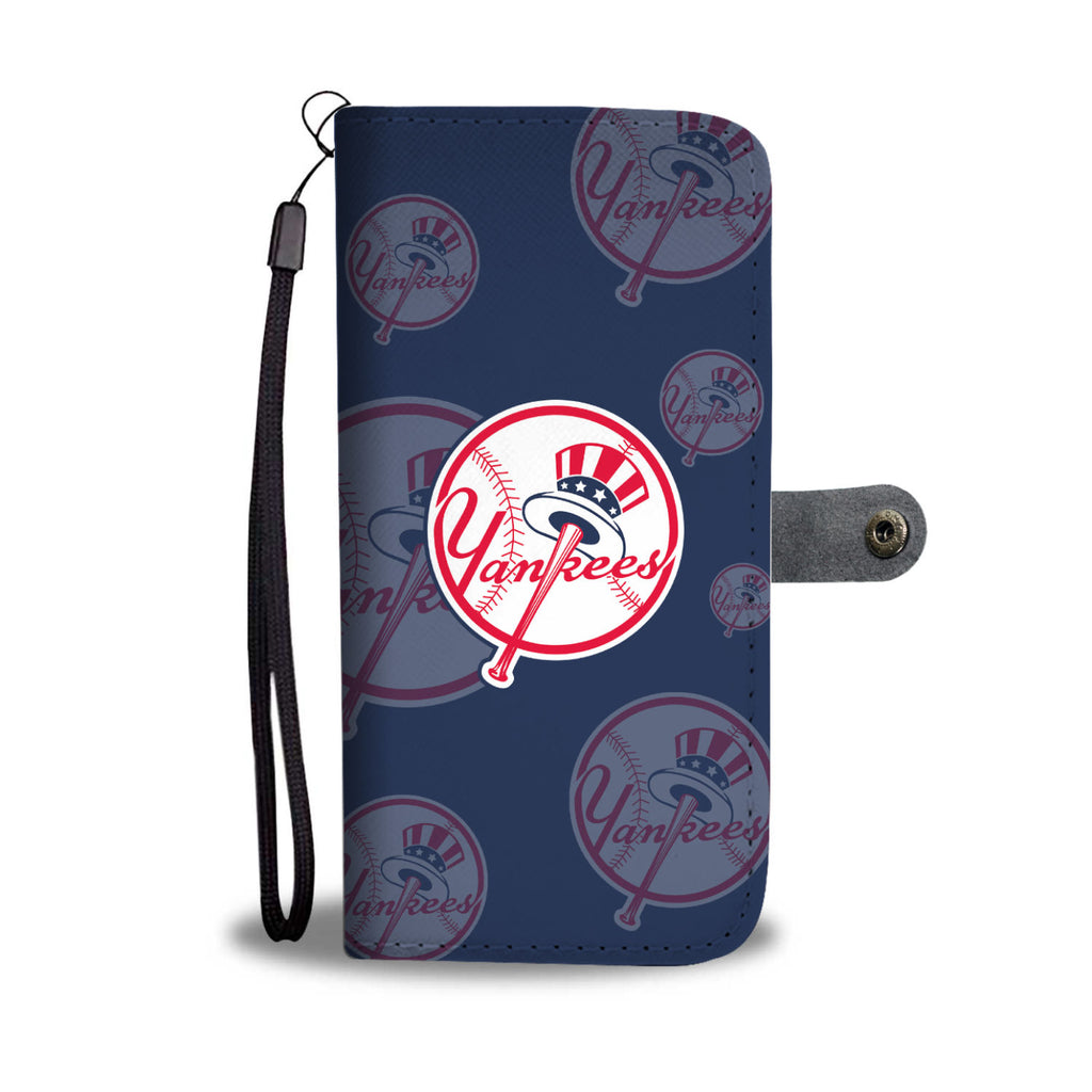 New York Yankees Logo Background Wallet Phone Cases