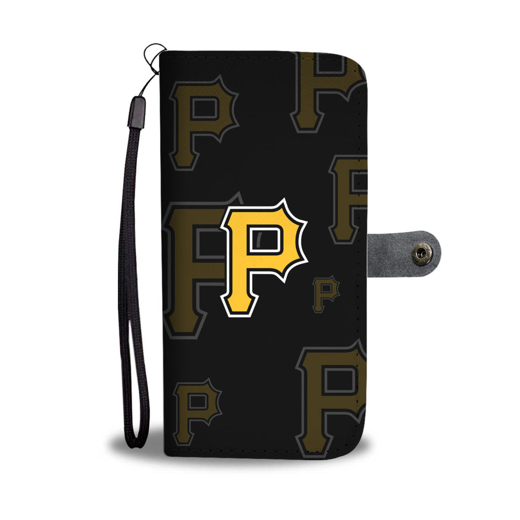 Pittsburgh Pirates Logo Background Wallet Phone Cases