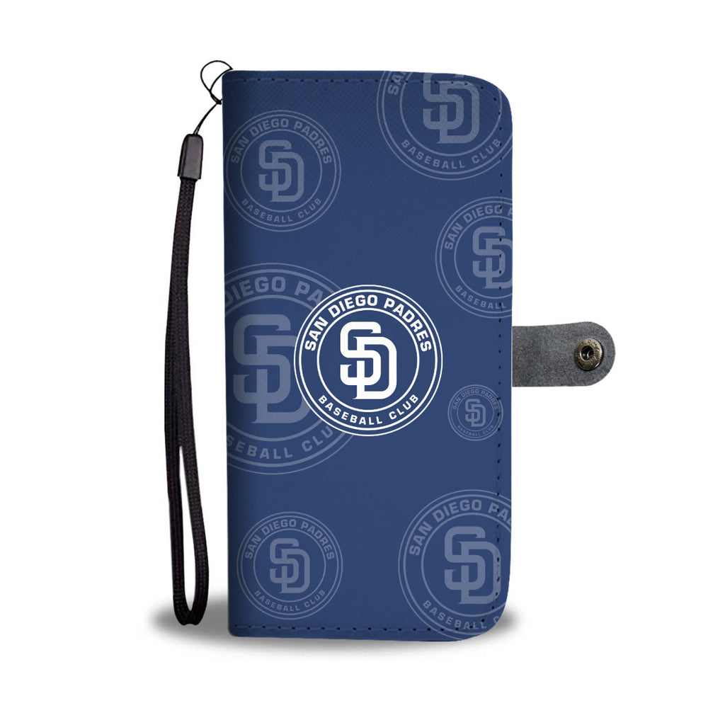 San Diego Padres Logo Background Wallet Phone Cases