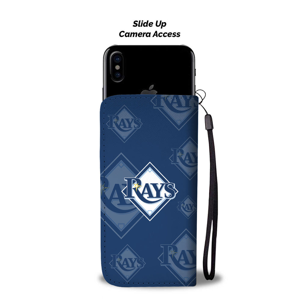 Tampa Bay Rays Logo Background Wallet Phone Cases
