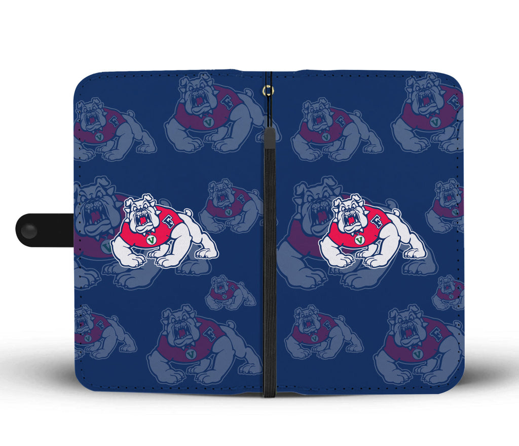 Fresno State Bulldogs Logo Background Wallet Phone Cases