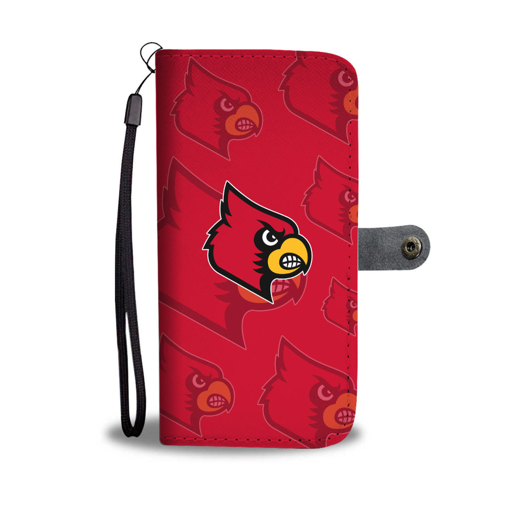 Louisville Cardinals Logo Background Wallet Phone Cases