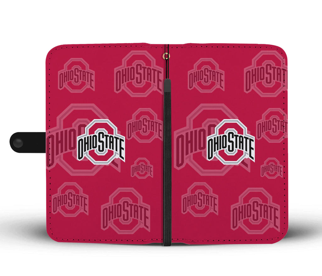 Ohio State Buckeyes Logo Background Wallet Phone Cases