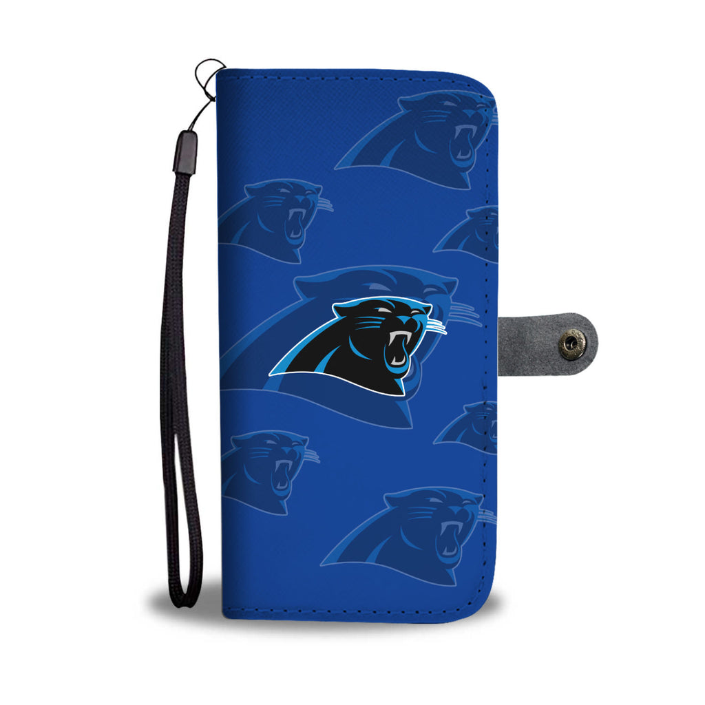 Carolina Panthers Logo Background Wallet Phone Cases