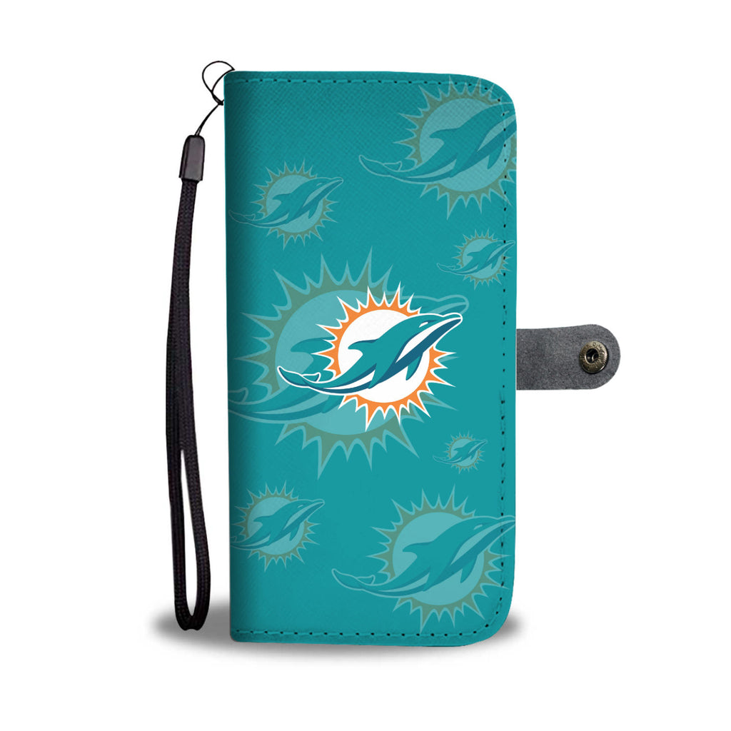 Miami Dolphins Logo Background Wallet Phone Cases