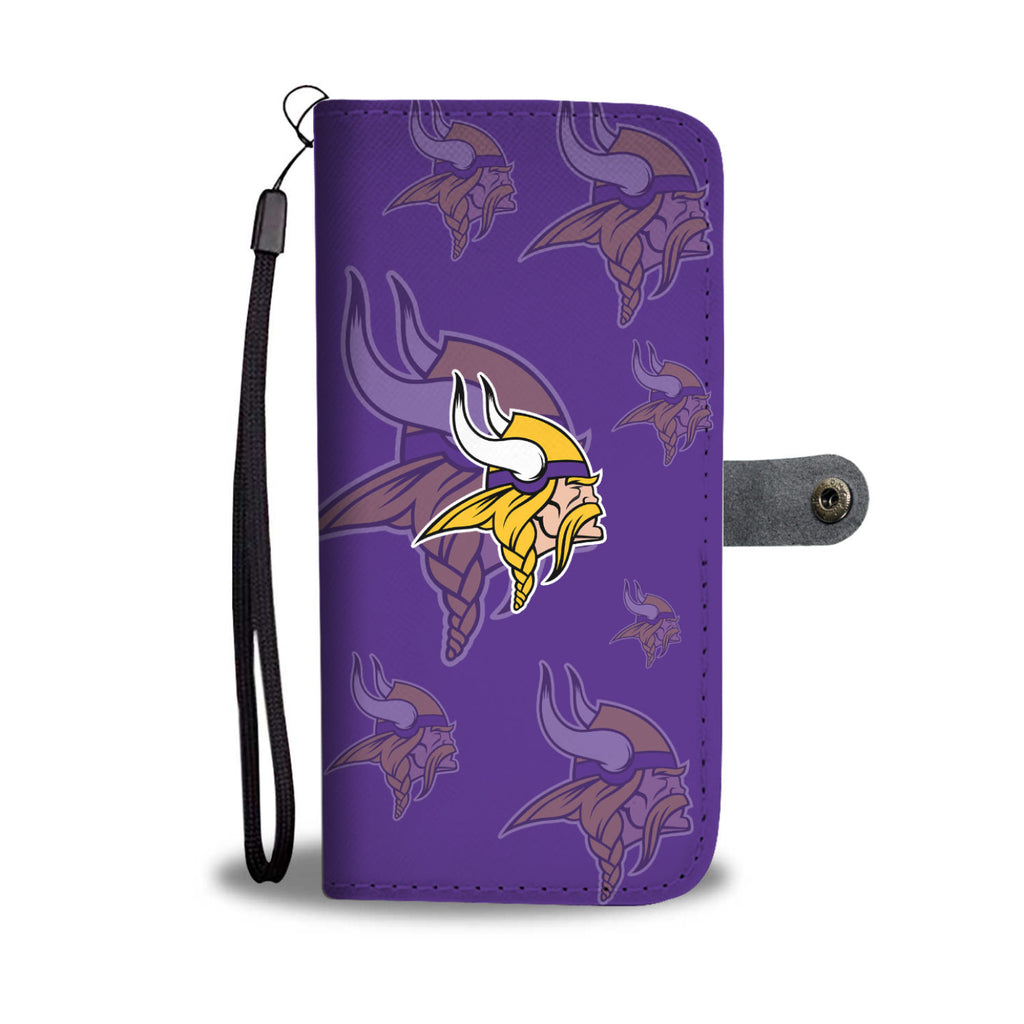 Minnesota Vikings Logo Background Wallet Phone Cases