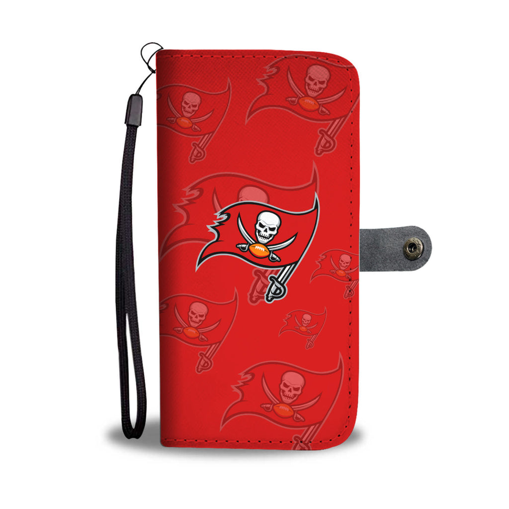 Tampa Bay Buccaneers Logo Background Wallet Phone Cases