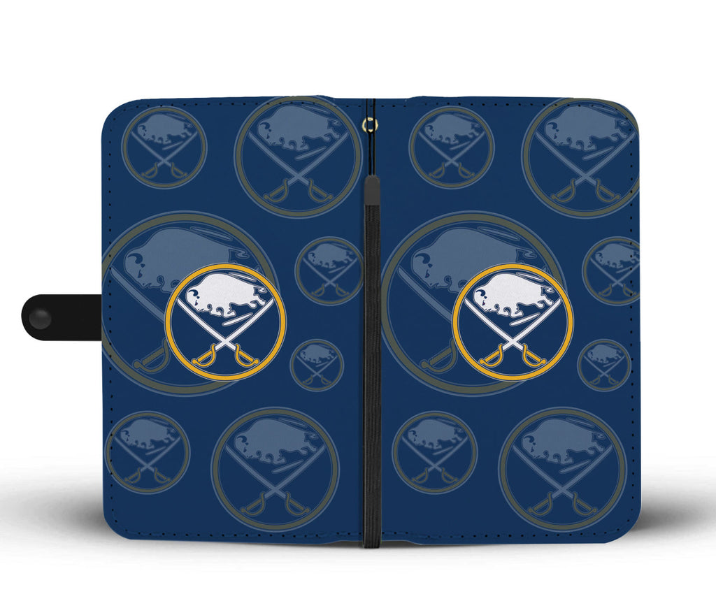 Buffalo Sabres Logo Background Wallet Phone Cases