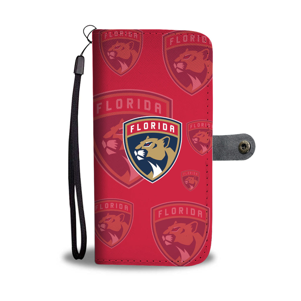 Florida Panthers Logo Background Wallet Phone Cases