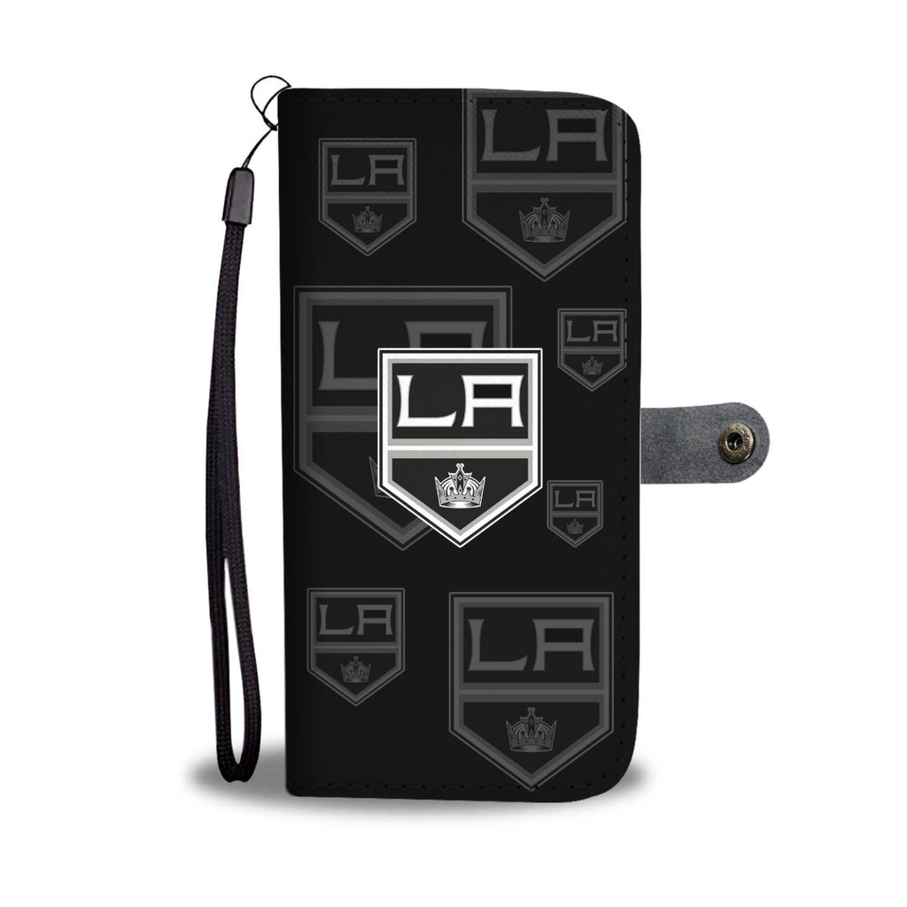Los Angeles Kings Logo Background Wallet Phone Cases