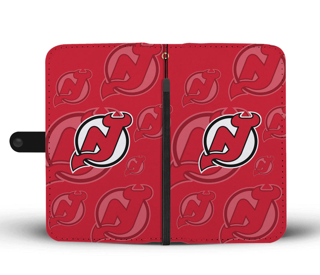 New Jersey Devils Logo Background Wallet Phone Cases