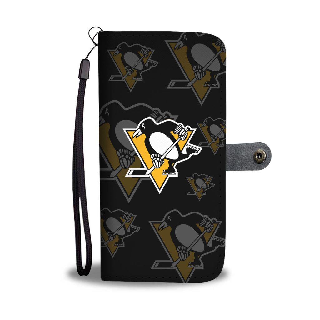 Pittsburgh Penguins Logo Background Wallet Phone Cases