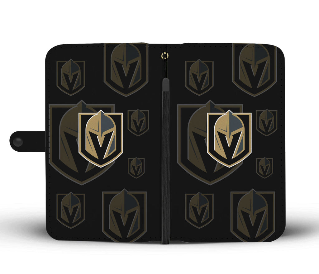 Vegas Golden Knights Logo Background Wallet Phone Cases