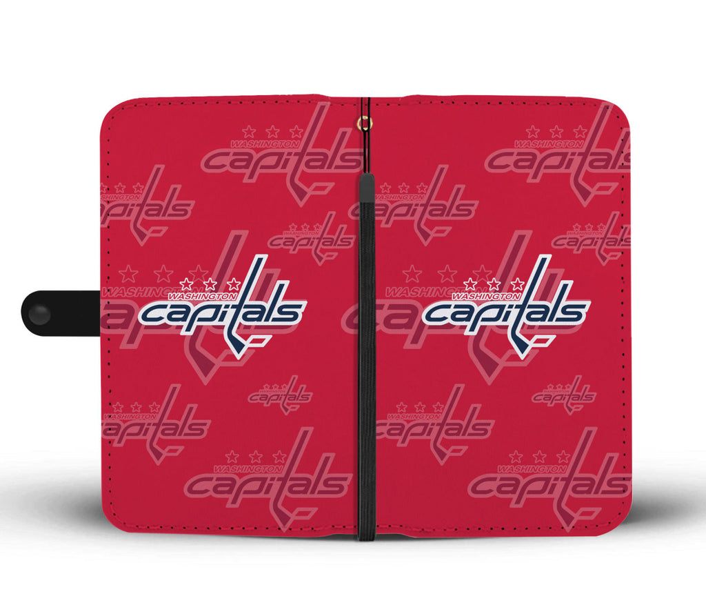 Washington Capitals Logo Background Wallet Phone Cases