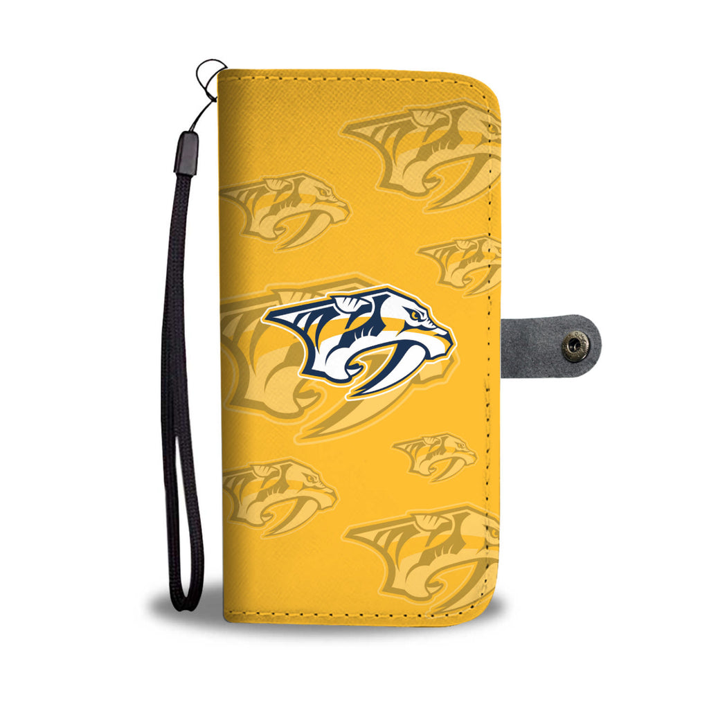 Nashville Predators Logo Background Wallet Phone Cases