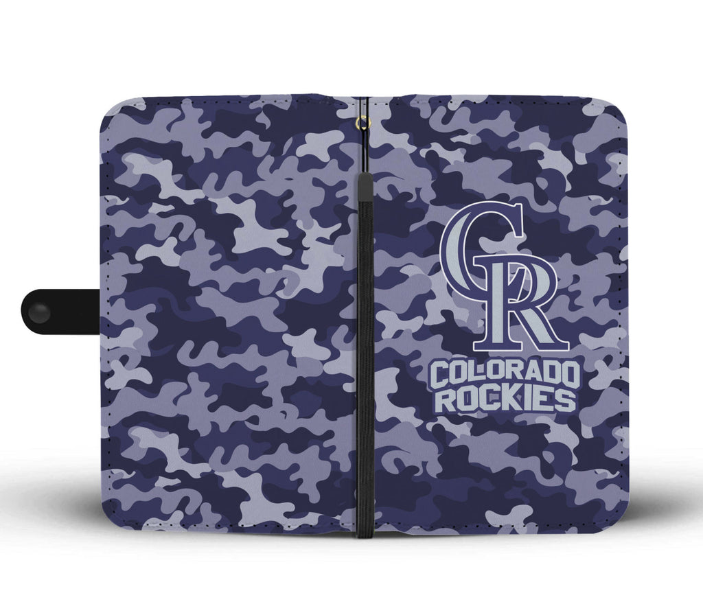 Gorgeous Camo Pattern Colorado Rockies Wallet Phone Cases