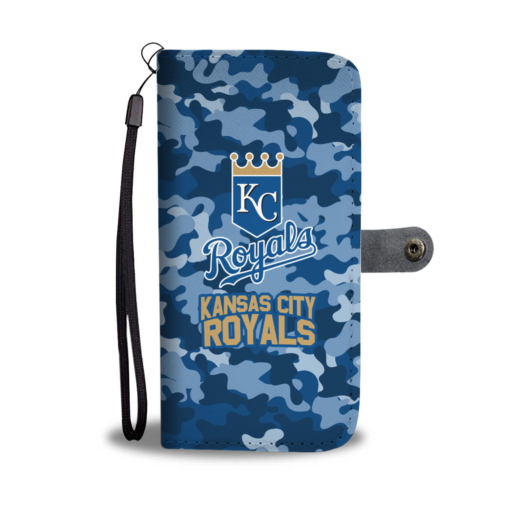 Gorgeous Camo Pattern Kansas City Royals Wallet Phone Cases