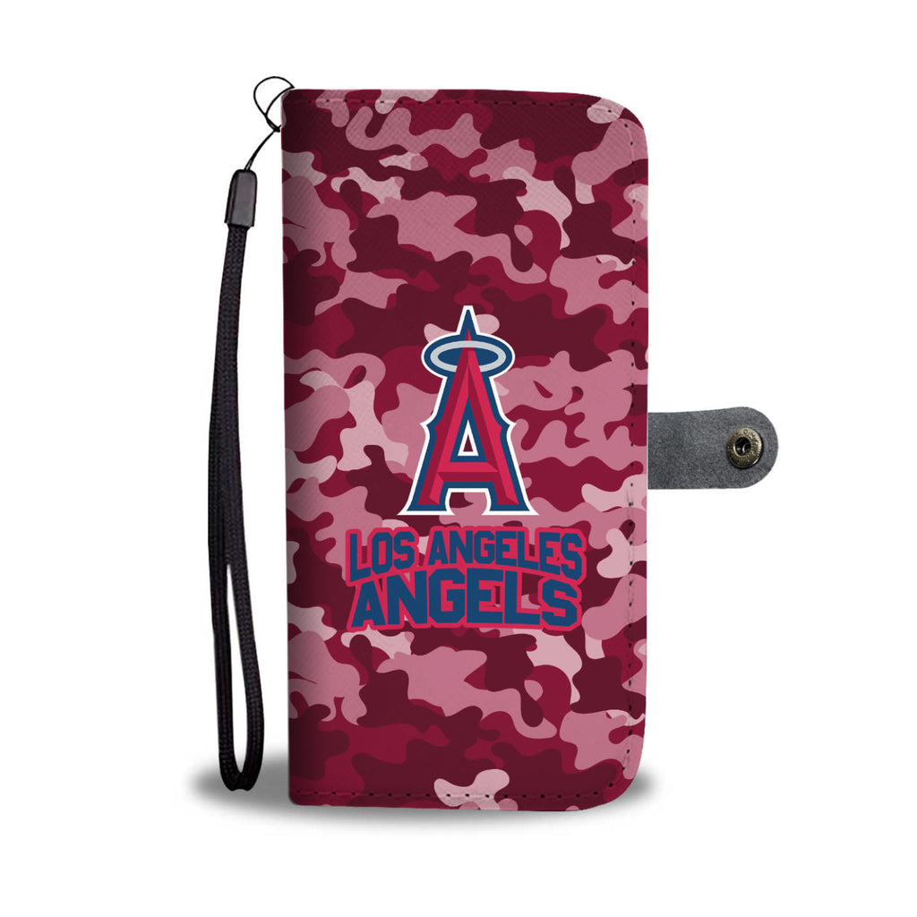 Gorgeous Camo Pattern Los Angeles Angels Wallet Phone Cases