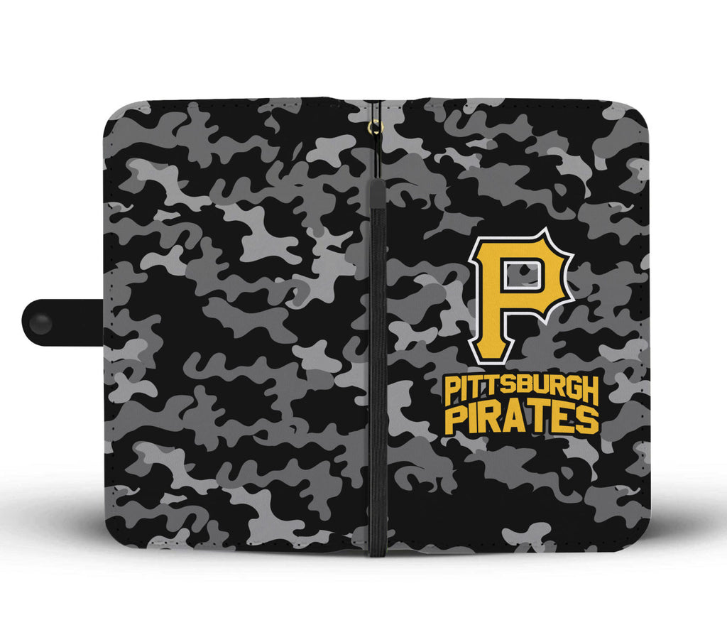 Gorgeous Camo Pattern Pittsburgh Pirates Wallet Phone Cases