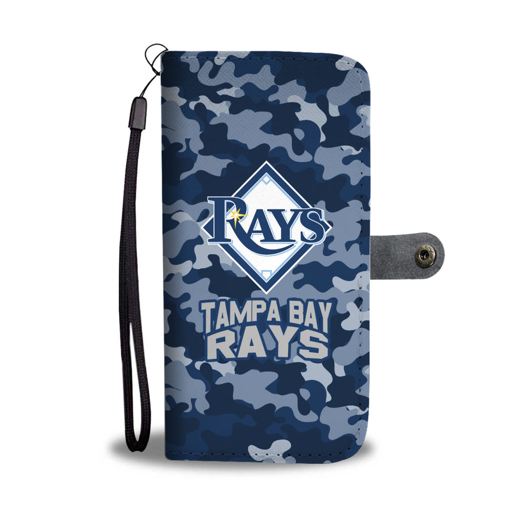 Gorgeous Camo Pattern Tampa Bay Rays Wallet Phone Cases