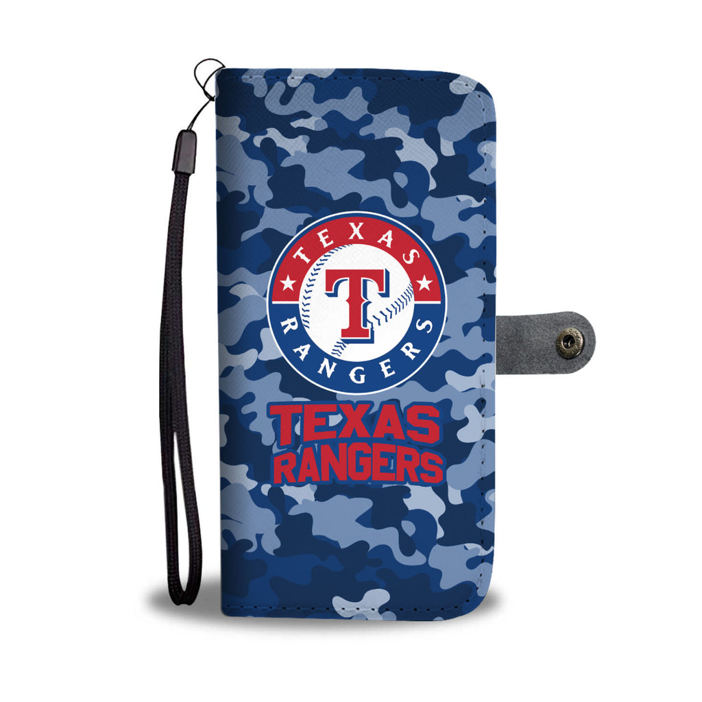 Gorgeous Camo Pattern Texas Rangers Wallet Phone Cases