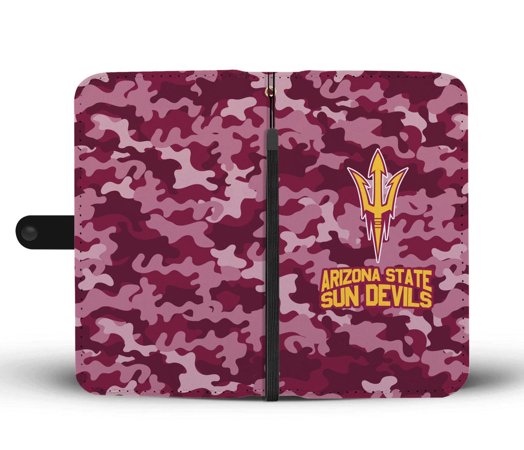 Gorgeous Camo Pattern Arizona State Sun Devils Wallet Phone Cases