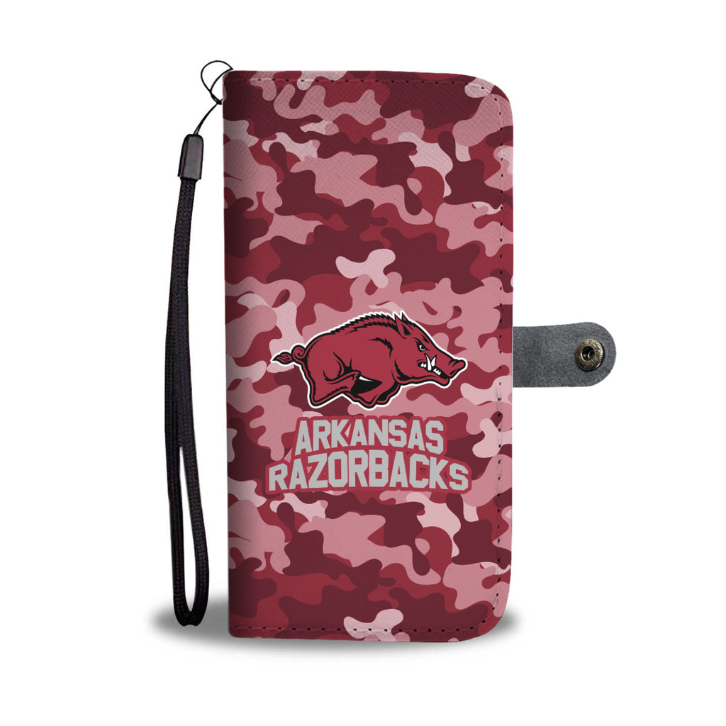 Gorgeous Camo Pattern Arkansas Razorbacks Wallet Phone Cases