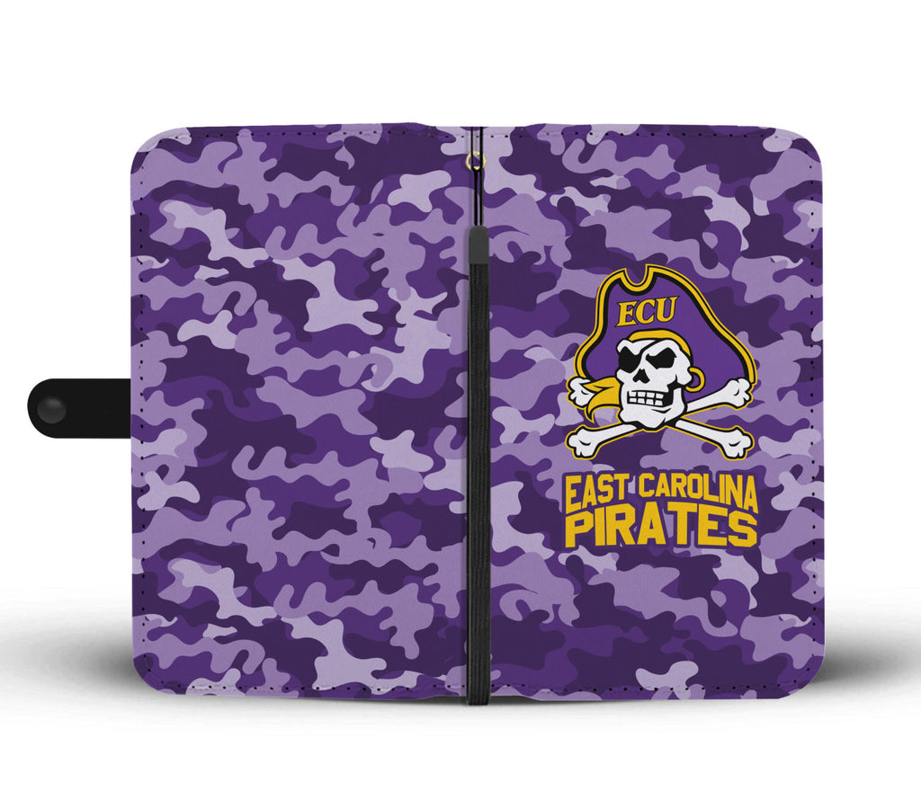 Gorgeous Camo Pattern East Carolina Pirates Wallet Phone Cases