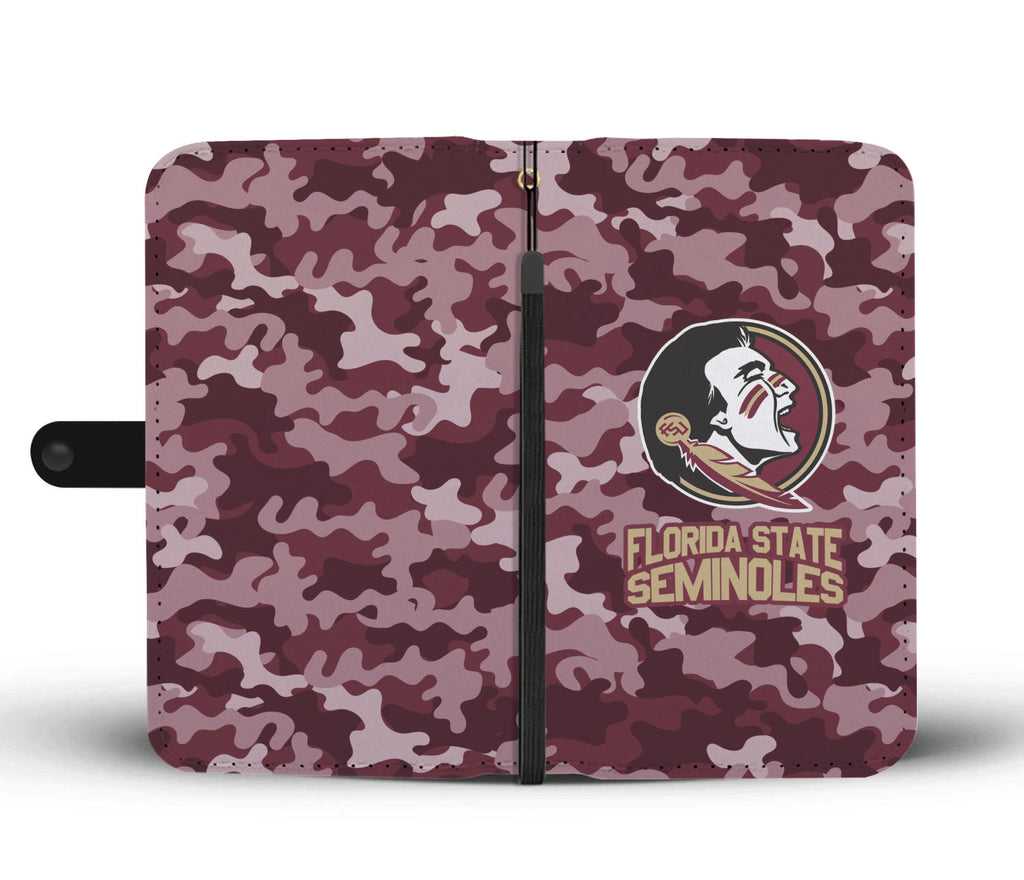 Gorgeous Camo Pattern Florida State Seminoles Wallet Phone Cases