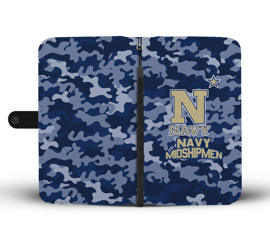 Gorgeous Camo Pattern Navy Midshipmen Wallet Phone Cases