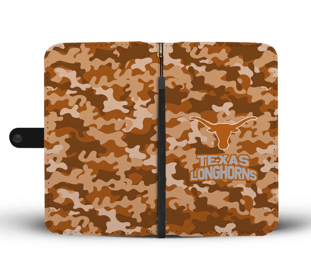 Gorgeous Camo Pattern Texas Longhorns Wallet Phone Cases