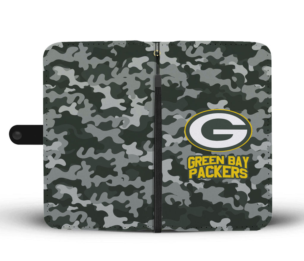 Gorgeous Camo Pattern Green Bay Packers Wallet Phone Cases