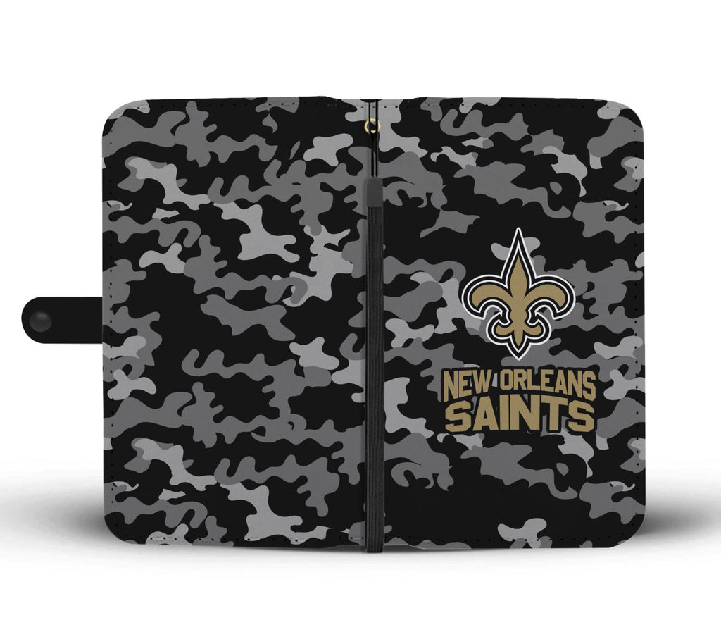 Gorgeous Camo Pattern New Orleans Saints Wallet Phone Cases