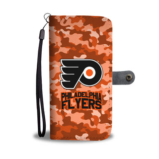 Gorgeous Camo Pattern Philadelphia Flyers Wallet Phone Cases