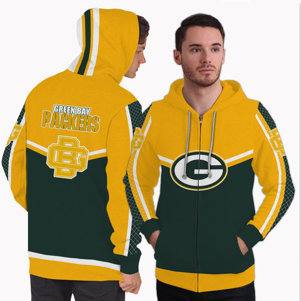 Strong Gorgeous Fitting Green Bay Packers Zip Hoodie