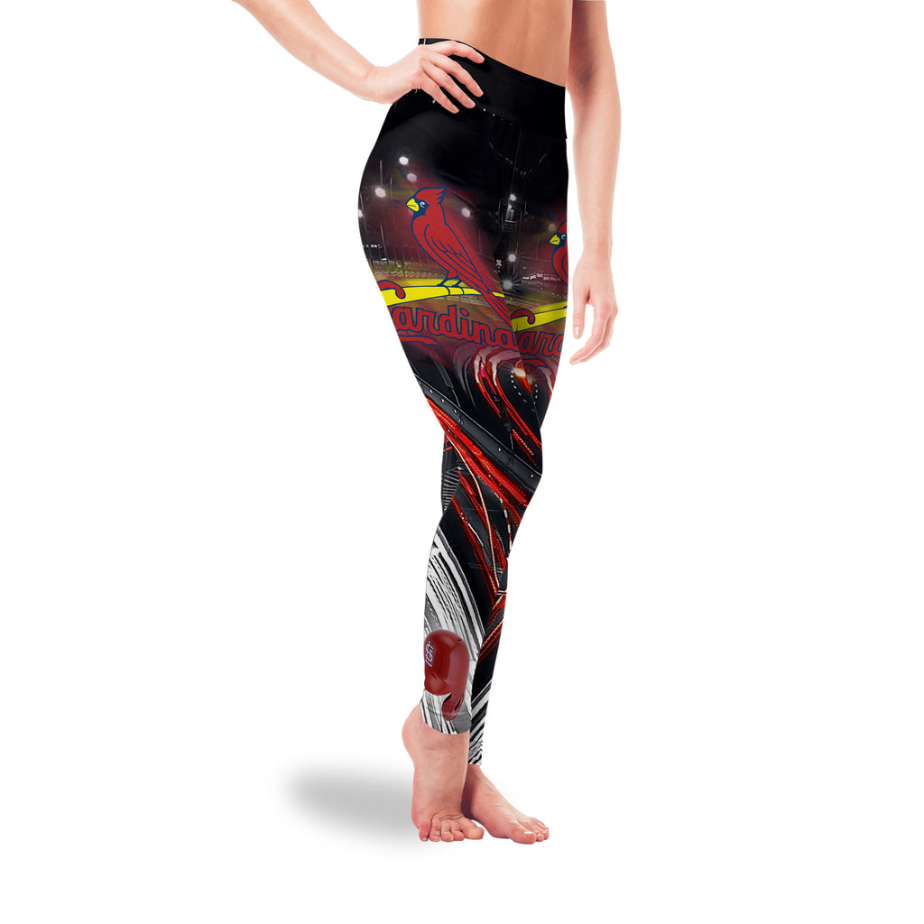 Great Urban Night Scene St. Louis Cardinals Leggings