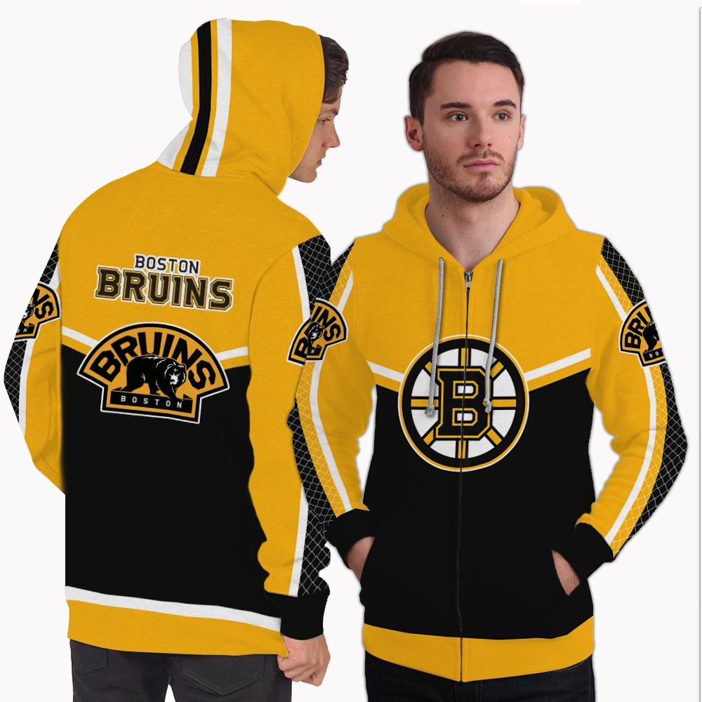 Strong Gorgeous Fitting Boston Bruins Zip Hoodie