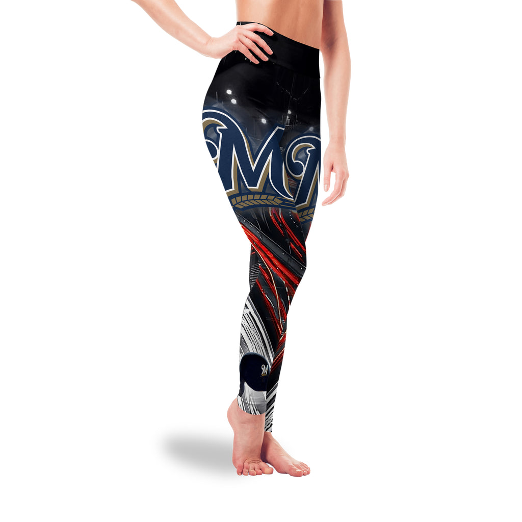 Great Urban Night Scene Milwaukee Brewers Leggings