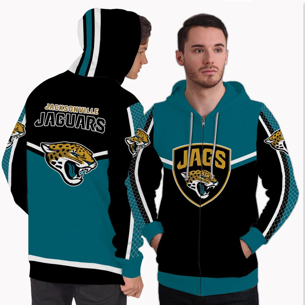 Strong Gorgeous Fitting Jacksonville Jaguars Zip Hoodie