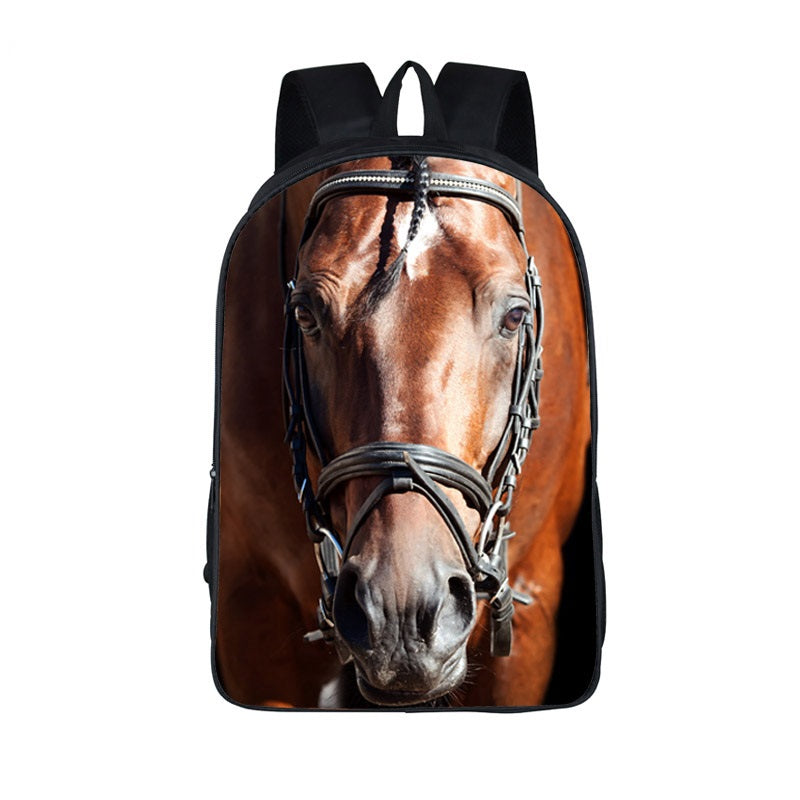 Oil Painting War Horse Backpacks