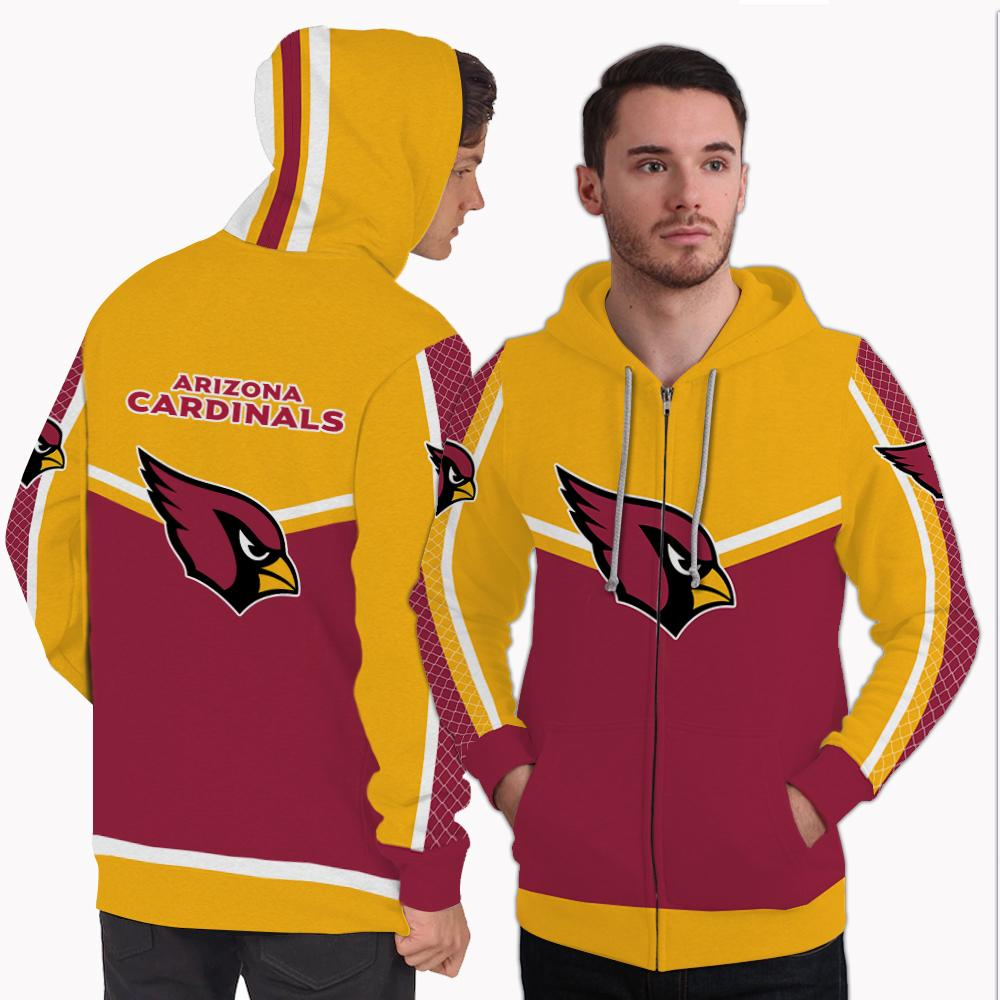 Strong Gorgeous Fitting Arizona Cardinals Zip Hoodie