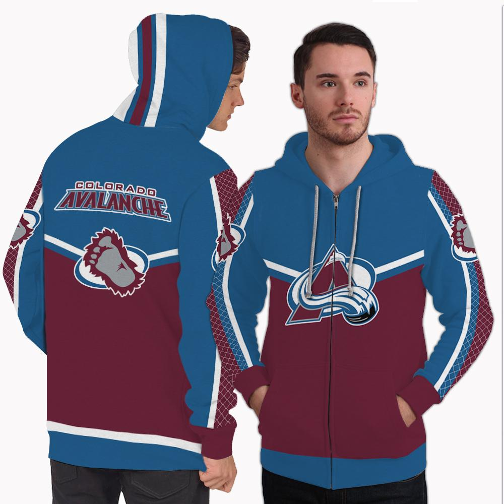 Strong Gorgeous Fitting Colorado Avalanche Zip Hoodie