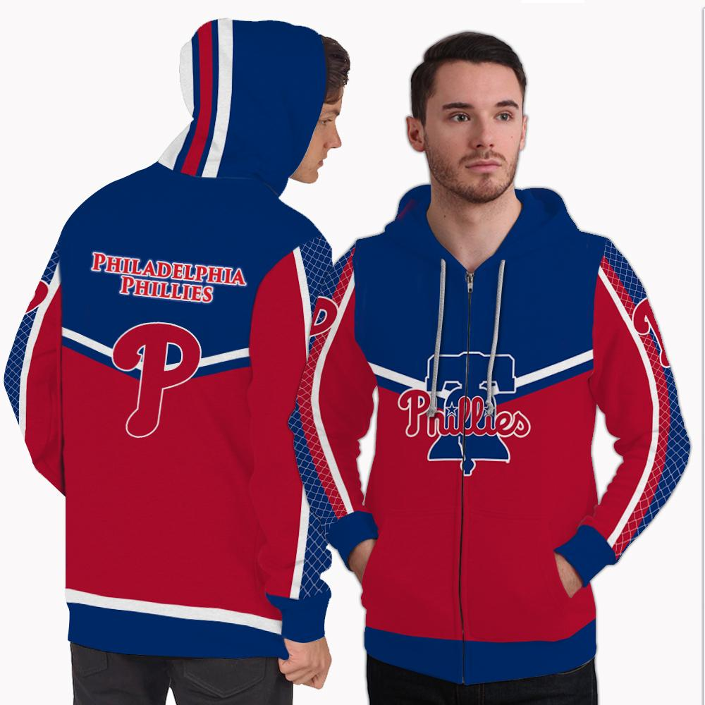 Strong Gorgeous Fitting Philadelphia Phillies Zip Hoodie