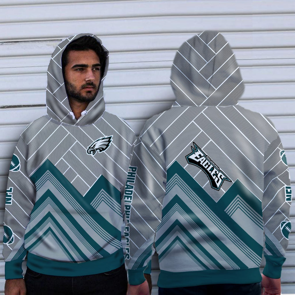 Simple Cross Line Philadelphia Eagles Hoodie